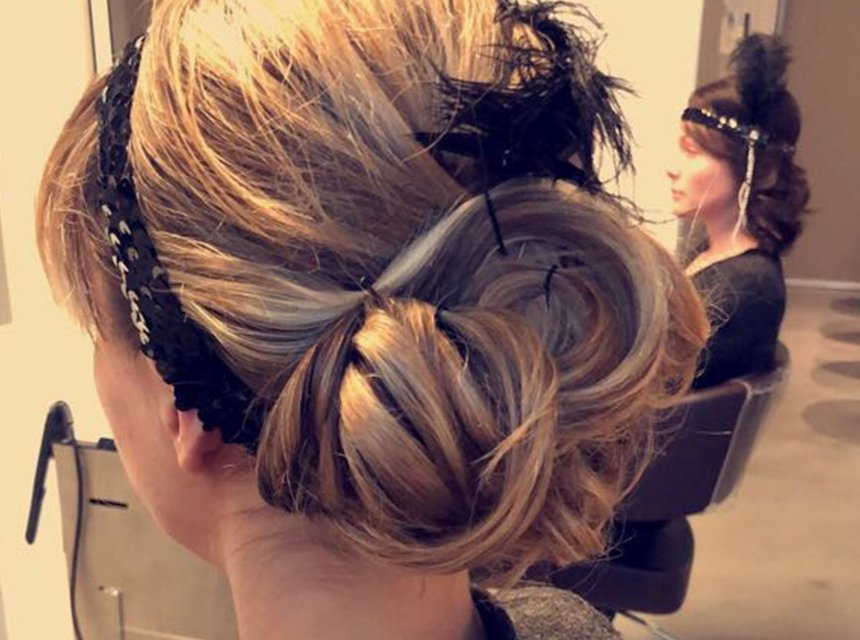 Hairdressing for themed events. gatsby hairstyle